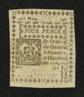 Colonial Notes:Connecticut, Connecticut October 11, 1777 4d Uncancelled Very Choice New....