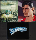 "Movie Posters:Action, Superman the Movie (Warner Brothers, 1978). Jumbo Lobby Cards (3)(16"" X 20""). Action.. ... (Total: 3 Items)"