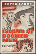 """Movie Posters:Thriller, Island of Doomed Men (Columbia, R-1955). One Sheet (27"""" X 41""""). Thriller.. ..."""