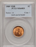 Lincoln Cents: , 1909 VDB 1C MS64 Red PCGS. PCGS Population (4100/6125). NGC Census:(2010/4045). Mintage: 27,995,000. Numismedia Wsl. Price...
