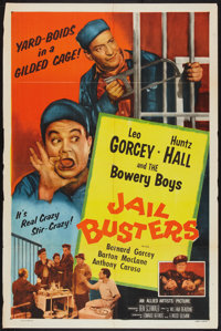"""Jail Busters (Allied Artists, 1955). One Sheet (27"""" X 41""""). Bowery Boys Comedy"""