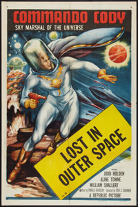 """Commando Cody (Republic, 1953). One Sheet (27"""" X 41"""") Chapter 11 --""""Lost in Outer Space."""" Serial..."""