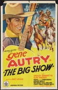 "Movie Posters:Western, The Big Show (Republic, R-Late 1930s). Stock One Sheet (27"" X 41""). Western.. ..."