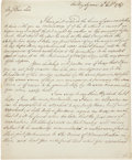 """Autographs:Non-American, George Townshend Autograph Letter Signed """"Townshend"""". Twopages, 7.25"""" x 9"""", Audley Square [London], October 4, 1767. Th...(Total: 2 Items)"""