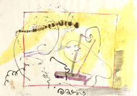 SIGMAR POLKE (German, b. 1941) Untitled, 1983 Ink and watercolor on paper 27 x 39 inches (71.1 x