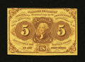 Fractional Currency:First Issue, Fr. 1230 5¢ First Issue Choice New....