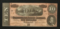 Confederate Notes:1864 Issues, T68 $10 1864. Low serial Number 58.. ...