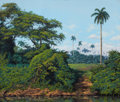 Paintings, ALEXIS MARTINEZ BENAVIDES (Cuban, b. 1975). Jungle Scene, 2005 and Cowboy, 2006 (2). Oil on canvas. 30 x 35-1/2 inch... (Total: 2 Items)
