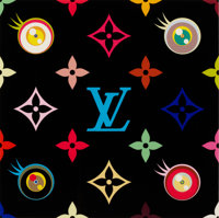 TAKASHI MURAKAMI (Japanese, b. 1963) Louis Vuitton Eye Love Superflat Blue, 2003 Lithograph 11-3/
