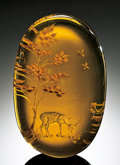 Lapidary Art:Carvings, FINE AMBER CARVING. ...
