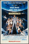 "Movie Posters:James Bond, Moonraker Lot (United Artists, 1979). One Sheet (27"" X 41"") Advanceand Ad Supplement (Multiple Pages, 11"" X 17""). James Bon... (Total:2 Items)"