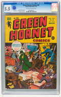 Golden Age (1938-1955):Superhero, Green Hornet Comics #22 (Harvey, 1945) CGC FN- 5.5 Off-white towhite pages....