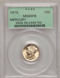 Mercury Dimes: , 1916 10C MS65 Full Bands PCGS. PCGS Population (802/420). NGCCensus: (589/422). Mintage: 22,180,080. Numismedia Wsl. Price...