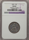Proof Seated Quarters: , 1859 25C --Artificial Toning--NGC Details. Proof. NGC Census:(0/120). PCGS Population (5/136). Mintage: 800. Numismedia Wsl...