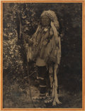 American Indian Art:Photographs, PLENTY COUPS. c. 1909...