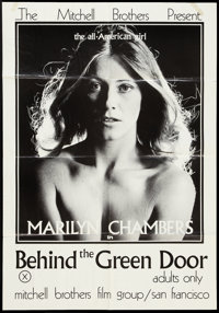 """Behind the Green Door (Mitchell Brothers Film Group, 1972). One Sheet (25"""" X 36""""). Adult"""