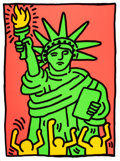Post-War & Contemporary:Pop, KEITH HARING (American, 1958-1990). Statue of Liberty, 1986.Color screenprint. 37-3/4 x 28-1/4 inches (95.9 x 71.8 cm)...