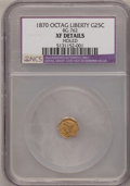California Fractional Gold, 1870 25C Liberty Octagonal 25 Cents, BG-762, Low R.4,--Holed--XF40NGC Details. NGC Census: (0/13). PCGS Population (1/107)...