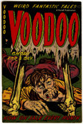 Golden Age (1938-1955):Horror, Voodoo #5 (Farrell, 1953) Condition: VG/FN....