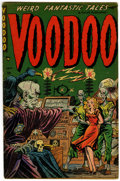 Golden Age (1938-1955):Horror, Voodoo #3 (Farrell, 1952) Condition: VG/FN....