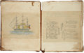 Books:Manuscripts, [Herman Melville] Ship Acushnet Whaling Journal Kept by W.Bowles Cooper, spanning the period July 18, 1845 thro...
