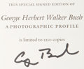 Books:Signed Editions, George Herbert Walker Bush: A Photographic Profile. Compiledby David Valdez. College Station: Texas A&M University Pres...