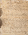 Autographs:Statesmen, William Franklin Tax Act Signed as the colonial governor of NewJersey, ca. 1764. Two pages (bound by ribbon at the top ...