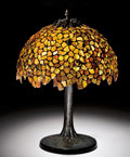 Lapidary Art:Lamps, TIFFANY-STYLE AMBER LAMP. ...
