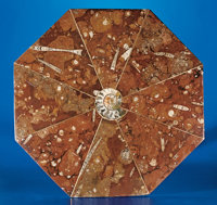 OCTAGONAL FOSSIL MARBLE TABLETOP