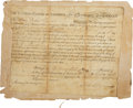 "Autographs:Statesmen, John Jay Document Signed as president of the Continental Congress.One vellum partially-printed page, 8.25"" x 6.75"", Philade...(Total: 2 Items)"