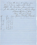 "Autographs:Military Figures, Milledge L. Bonham Letter Signed. One page written on recto and verso, 8"" x 10"", on blue-lined paper headed ""State of Sout..."