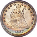 Seated Quarters, 1887 25C MS66 PCGS. CAC....
