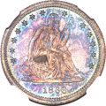 Proof Seated Quarters, 1866 25C Motto PR66 Cameo NGC....