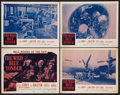 "Movie Posters:War, The Wild Blue Yonder (Republic, R-1958). Lobby Card Set of 4 (11"" X14""). War.. ... (Total: 4 Items)"