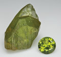 Gems:Rough & Cut, PERIDOT: ROUGH & CUT SET. ...