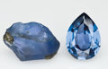 Gems:Rough & Cut, MONTANA SAPPHIRE: ROUGH & CUT SET. ...