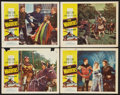 "Movie Posters:Adventure, The Warriors (Allied Artists, 1955). Lobby Cards (4) (11"" X 14"").Adventure.. ... (Total: 4 Items)"