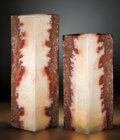 Lapidary Art:Lamps, MATCHED PAIR OF ONYX LAMPS. ...