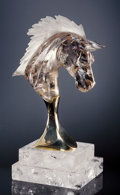 Lapidary Art:Carvings, HORSE HEAD CARVED OUT OF SMOKY QUARTZ. ...