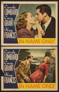 """Movie Posters:Romance, In Name Only (RKO, 1939). Lobby Cards (2) (11"""" X 14""""). Romance.. ... (Total: 2 Items)"""