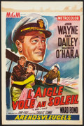 "Movie Posters:Drama, The Wings of Eagles (MGM, 1957). Belgian (14.25"" X 21.5""). Drama....."