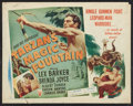 "Movie Posters:Adventure, Tarzan's Magic Fountain (RKO, 1949). Half Sheet (22"" X 28"") StyleA. Adventure.. ..."
