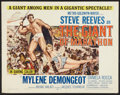 "Movie Posters:Adventure, The Giant of Marathon (MGM, 1960). Half Sheet (22"" X 28"").Adventure.. ..."