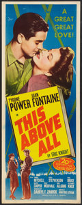 "Movie Posters:War, This Above All (20th Century Fox, R-1952). Insert (14"" X 36"").War.. ..."