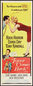 "Movie Posters:Comedy, Lover Come Back (Universal, 1962). Insert (14"" X 36""). Comedy.. ..."