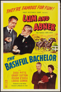 """The Bashful Bachelor (Post Pictures, R-1950). One Sheet (27"""" X 41""""). Comedy"""
