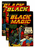 Golden Age (1938-1955):Horror, Black Magic #13-15 Group (Prize, 1952) Condition: Average VG....(Total: 3 Comic Books)