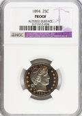 Proof Barber Quarters, 1894 25C --Altered Surface--NGC Details. Proof. NGC Census: (3/255). PCGS Population (7/252). Mintage: 972. Numismedia Wsl. ...