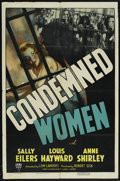 "Movie Posters:Drama, Condemned Women (RKO, 1938). One Sheet (27"" X 41""). Drama. ..."