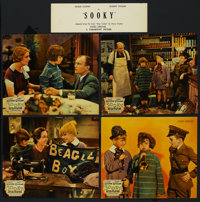 "Sooky (Paramount, 1931). Jumbo Lobby Card Set of 8 (14"" X 17""). Family. Starring Jackie Cooper, Robert Coogan..."